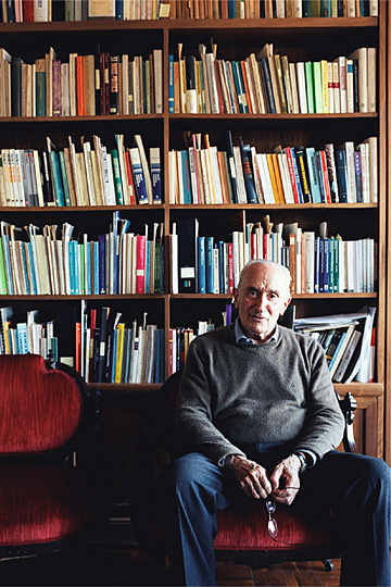 Giovanni Sartori en la BUM. (vía El País Lourdes Delgado)