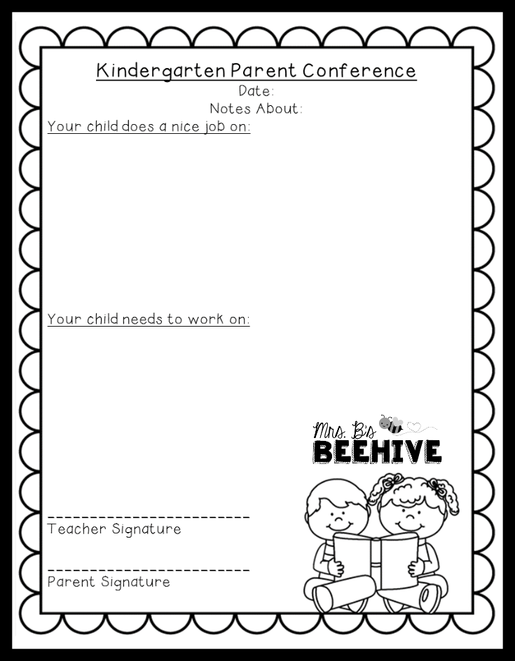 parent conference form freebie mrs b s beehive