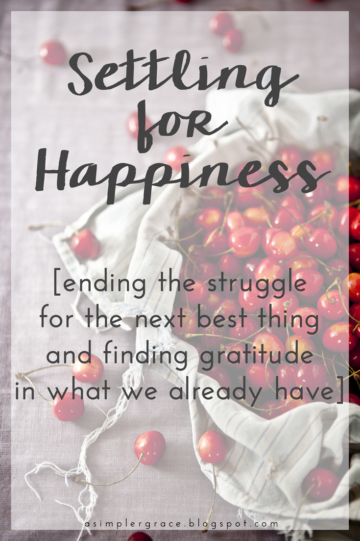 Ending the struggle for the next best thing and finding gratitude in what we already have.