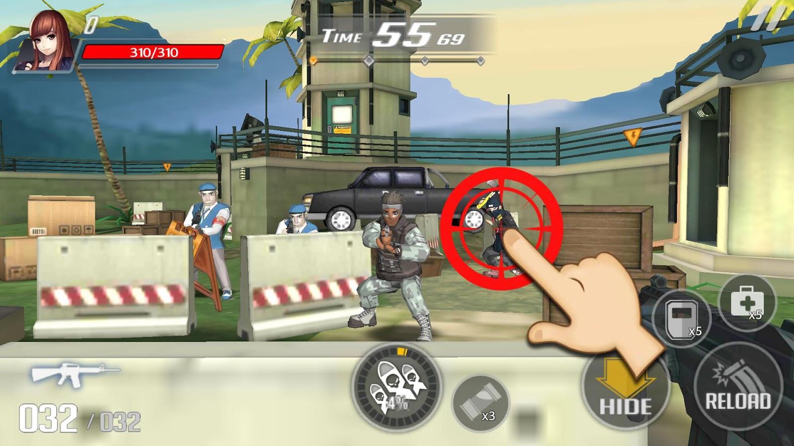 Over Touch Gun Shooting MOD APK