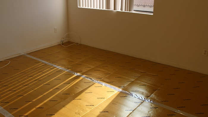 We Removed Wall To Wall Carpet And Installed Underlayment