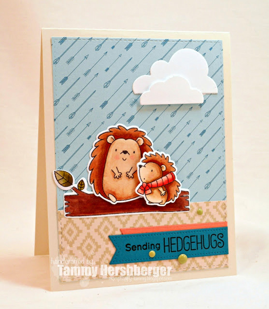 Birdie Brown Happy Hedgehogs stamp set and Die-namics - Tammy Hershberger #mftstamps