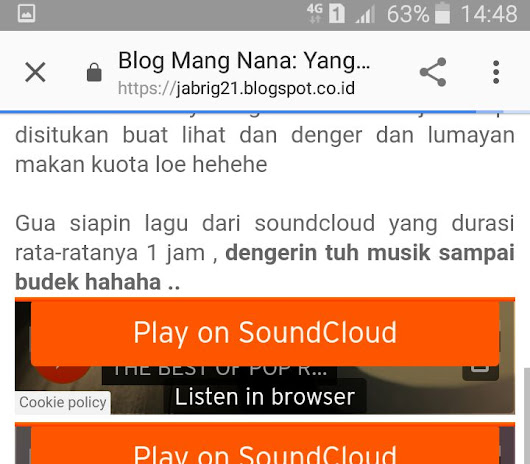 Listen to Soundcloud with Android on Blog