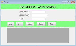 Form Input Data Kamar