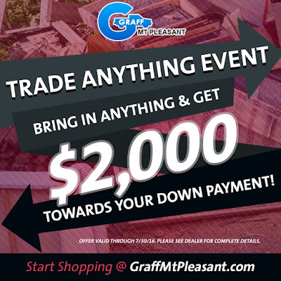 Trade in Anything At Graff Chevrolet Mt. Pleasant and Get $2,000