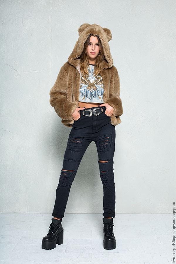 Tapados de piel invierno 2016 ropa de moda 47 Street.