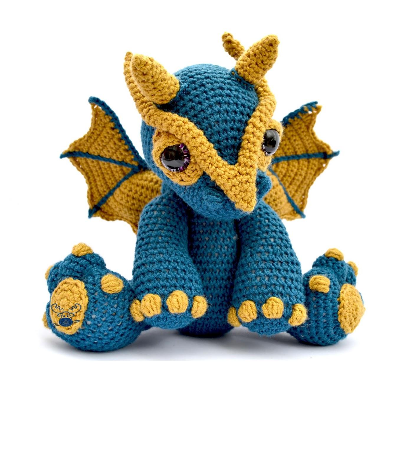 Clancy The Dragon Crochet Pattern Pdf Patchwork Moose