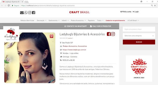 craft brasil ladybug's bijuterias