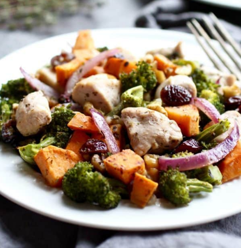 Sweet Potato Broccoli Chicken Bake