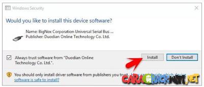 Security Ask klik install