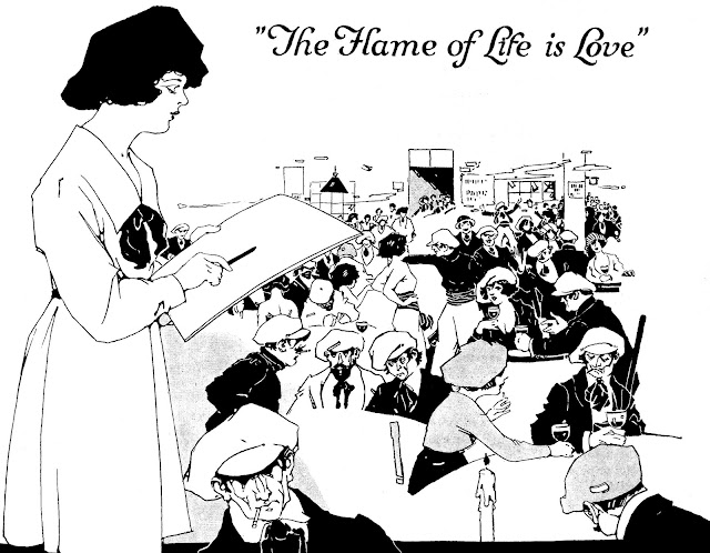 The flame of life is love, 1921 pretentious artists