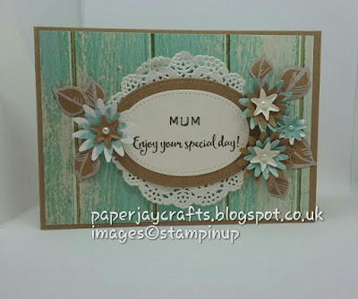 Stampin Up Serene Scenery Paper Pad Shabby Chic , Blossom Bunch Punch