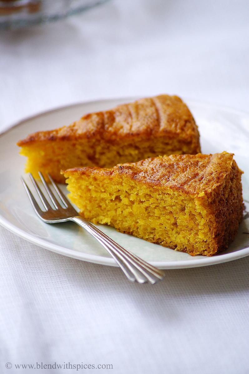 Eggless Mango Sponge Cake Recipe