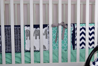 elephant crib bumpers