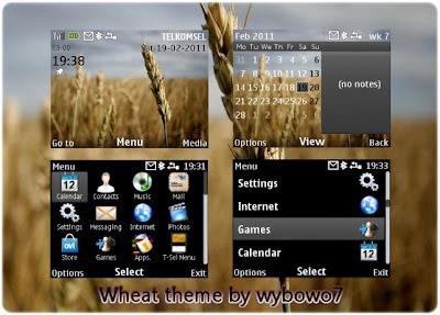 Wheat theme for Nokia Asha 302, Asha 201, Asha 200, C3-00, X2-01,
