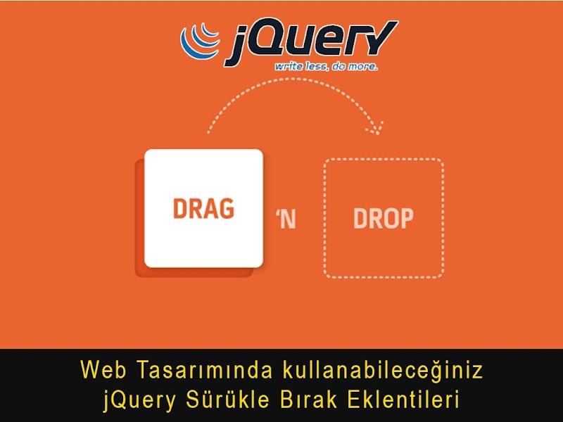 jQuery Drag in Drop (Sürükle ve Bırak) Eklentileri