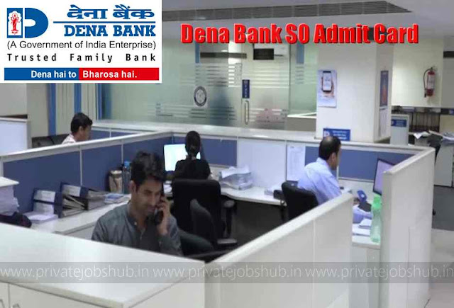 Dena Bank SO Admit Card