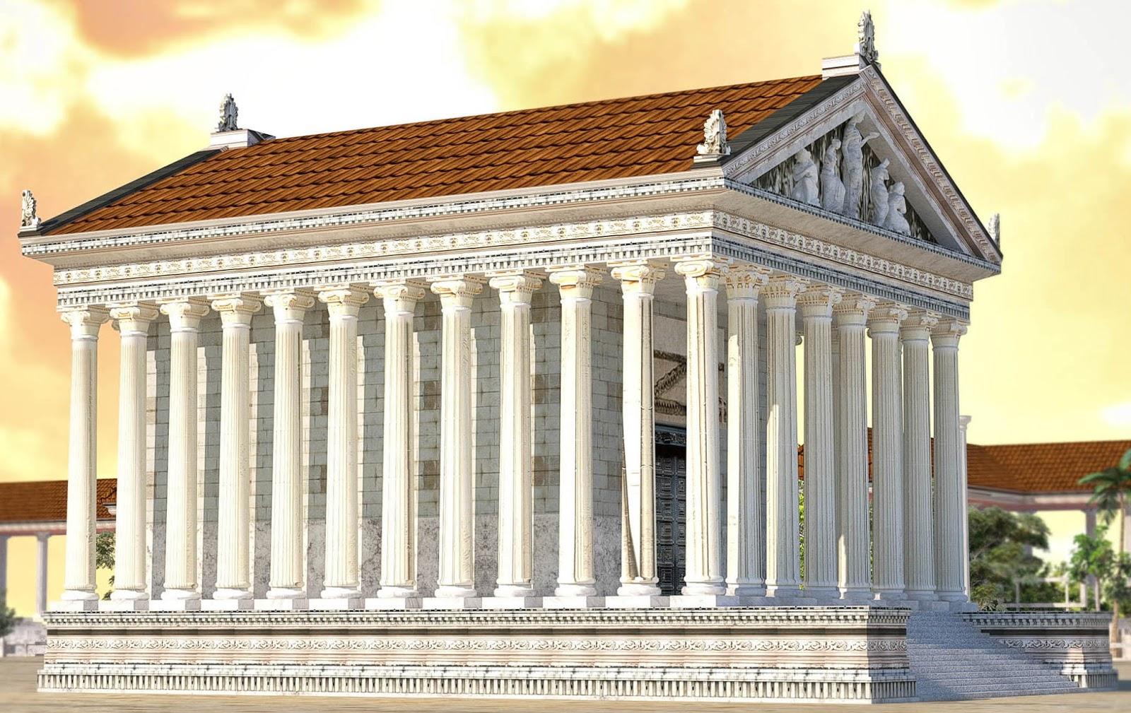 Arte para ni os el templo romano arquitectura y ejemplos for Arquitectura griega templos