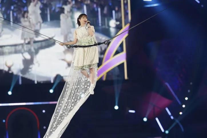 Ikuta Erika bawakan lagu Nandome no Aozora ka? sambil menari diatas langit