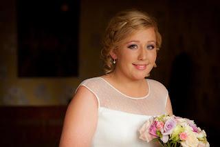 Soft intricate wedding hair in a Scottish Wedding venue
