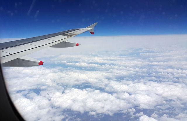 amerika uçak gökyüzü manzarası