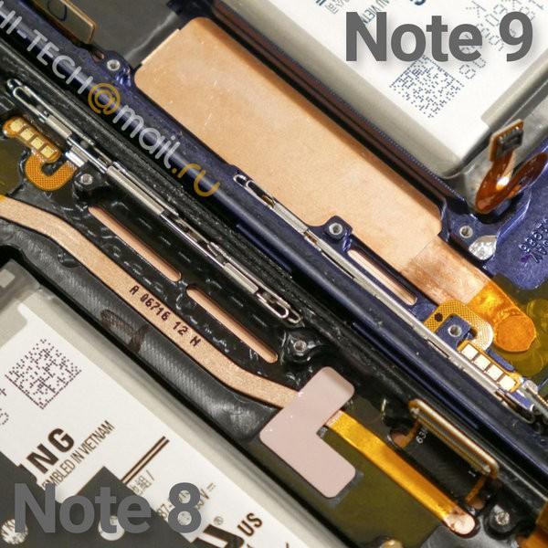 So sánh tản nhiệt của Note9 và Note8