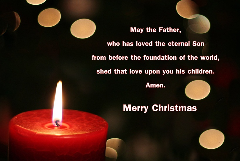 Christmas Blessing Prayer Image for Greeting Card