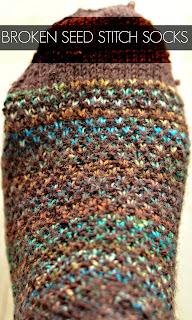 Avec 5 Ailes : Récapitulatif de mes projets tricot Broken Seed Stitch Socks