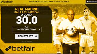 betfair supercuota Real Madrid gana a Villarreal 19 mayo
