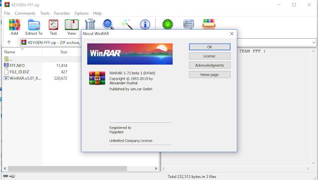 WinRAR 5.71 Beta 1 + Keygen