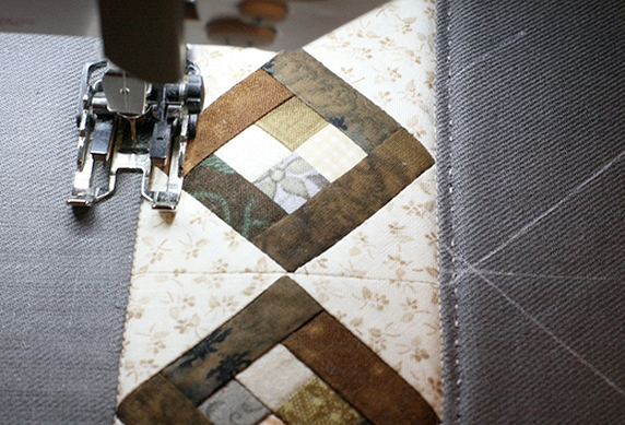 How to sew a bag in patchwork & quilting technique. DIY tutorial in pictures. Лоскутная сумка
