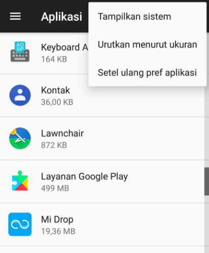 Setting Preferences Aplikasi