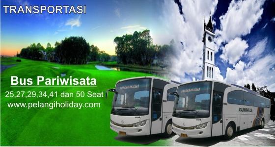 Rental sewa bus pariwisata oh 40 seat di kota padang