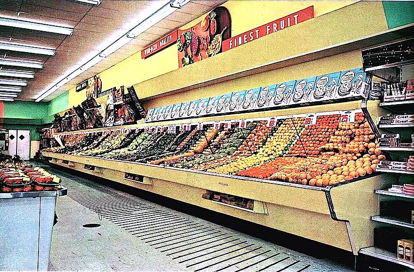 1960s supermarket interior photograph