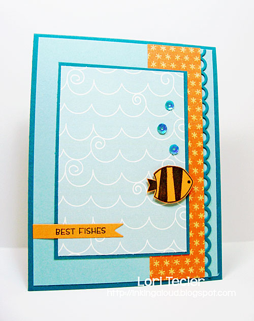 Best Fishes card-designed by Lori Tecler/Inking Aloud-stamps from Clear and Simple Stamps