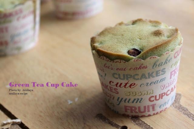 绿茶红豆杯子蛋糕