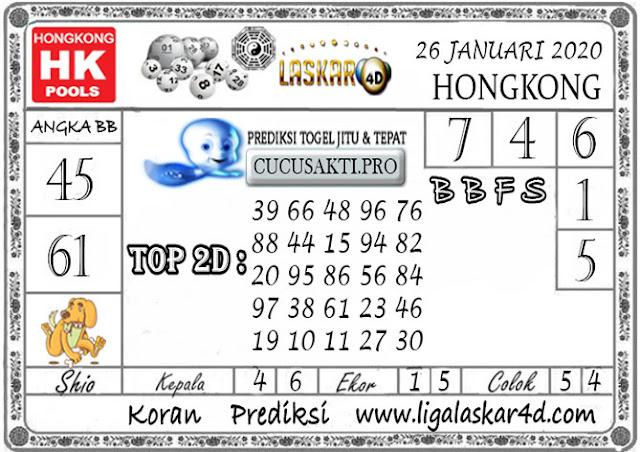 Prediksi Togel HONGKONG LASKAR4d 26 JANUARI 2020
