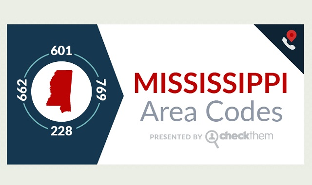 Mississippi Area Codes