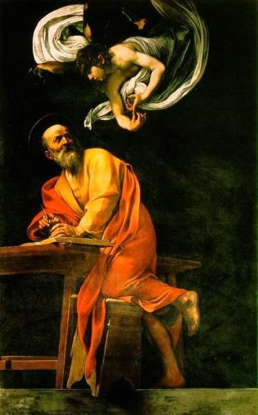 A Inspiração de São Mateus - Caravaggio e suas principais pinturas ~ O gênio rebelde