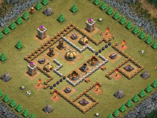 Goblin Base Clash of Clans Thoroughfare