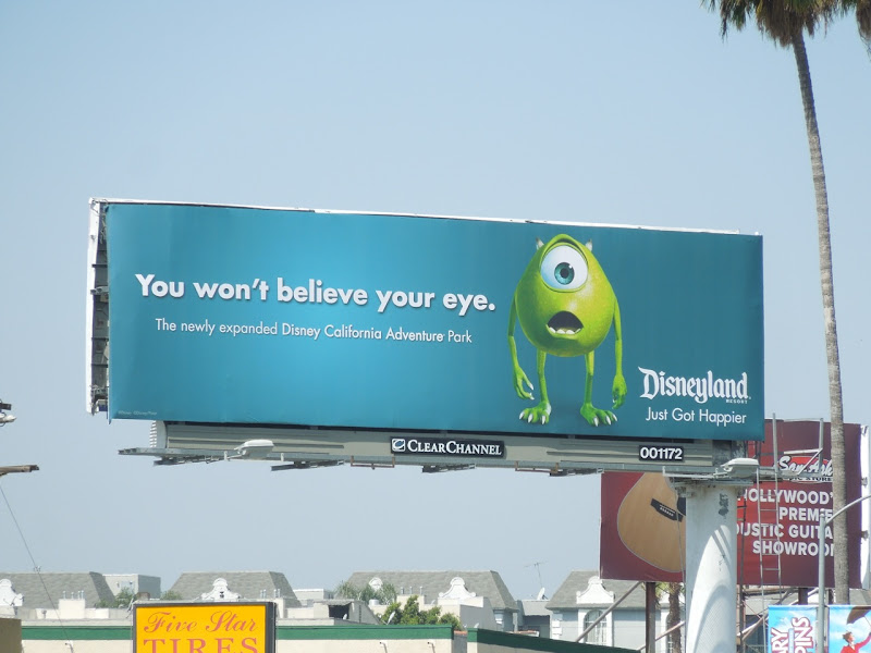 Monsters Inc Mike Disneyland billboard