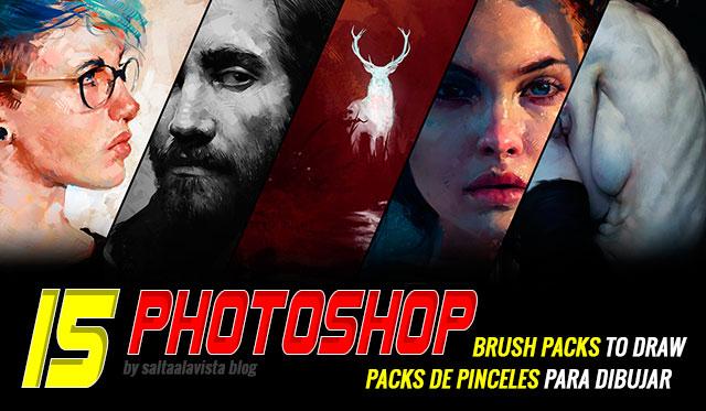 15-Packs-de-Pinceles-Photoshop-para-Dibujo-e-Ilustracion-Digital