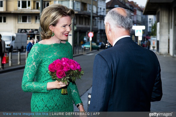 Queen Mathilde of Belgium attends the semi-finals of the Queen Elisabeth Violin Competition 2015 in Brussels