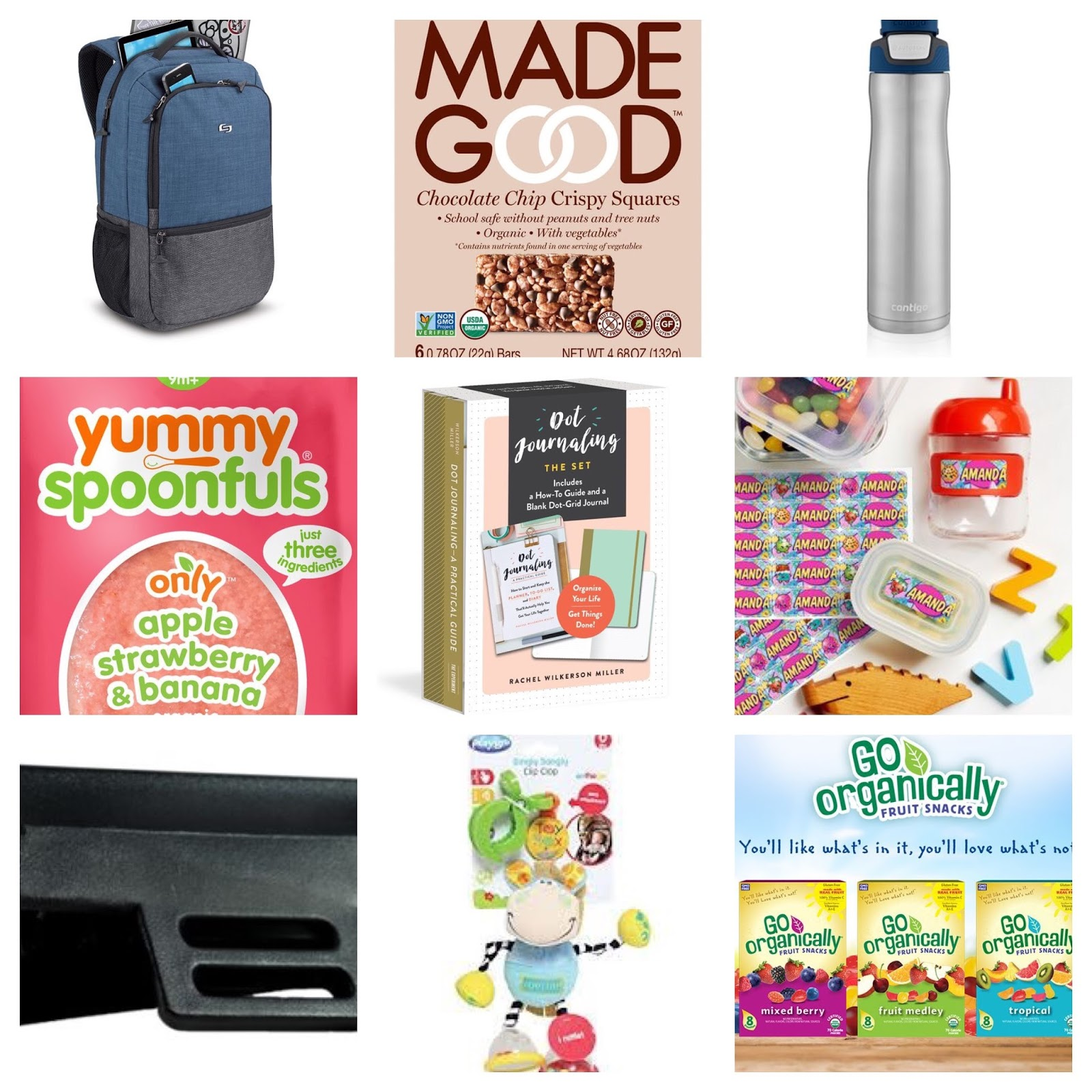 3557eb2e16 17. Contigo® | AUTOSEAL® Chill Stainless Steel Water Bottle | 24 oz 18.  Yummy Spoonfuls | Only Apple Strawberry & Banana Organic Baby Food 19.