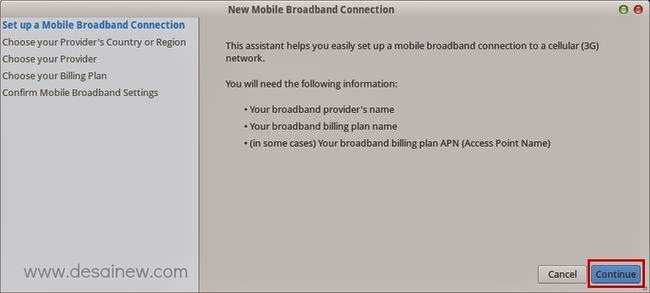 Set up a Mobile Broadband Connection