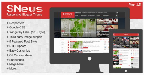 SNews - Magazine News Blogger Template
