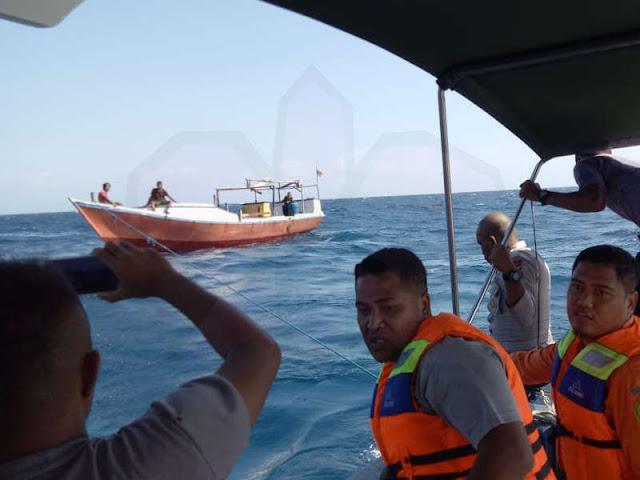 Polair dan Basarnas MTB Selamatkan 4 Orang di KM Nusa Jaya