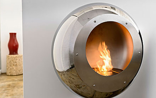 Best Fireplace Design Ideas Stylish Round Wall Mounted