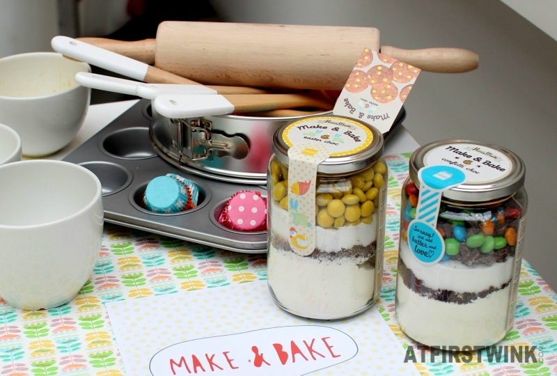HEMA Make & Bake confetti choc and Easter choc jars kitchen utensils