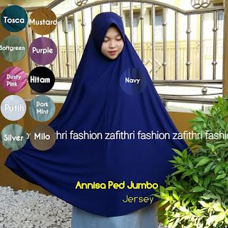 jilbab syar'i jumbo polos bahan jersey